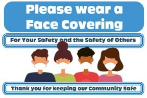 Please wear a face covering